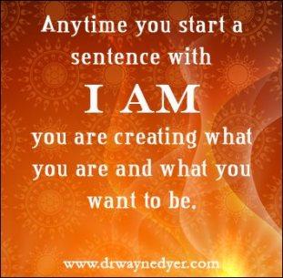 I AM Sätze